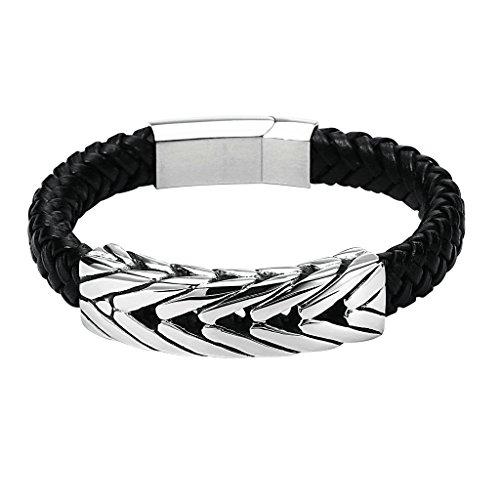 gnzoe-hommes-acier-inoxydable-wide-braided-leather-bracelet-noir-with-box-clasp-244x15cm