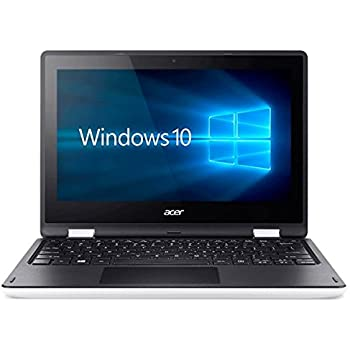 "Acer Aspire R 11 R3-131T-C9QV - Portátil de 11.6"" (Intel Celeron N3050, 4 GB de RAM, Disco HDD de 500 GB, Windows 10 Home), blanco y negro - Teclado QWERTY Español"