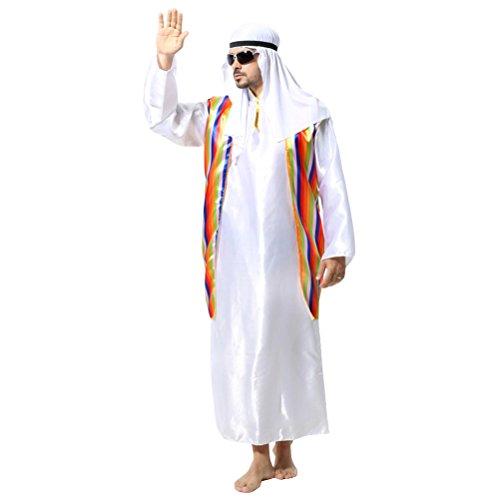Zhhlinyuan [Halloween kostüm Herren Fashion Maskenspiel/Halloween Costume für Erwachsener Mens Dubai Arabischer Mittlerer Osten Robe Urlaub Cosplay Partei Outfit, Multi-Style (A-D)