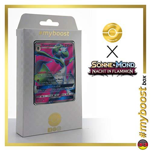 Guardevoir-GX 140/147 Full Art - #myboost X Sonne & Mond 3 Nacht in Flammen - Box de 10 Cartas Pokémon Aleman