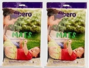 Libero Baby Disposable Mats with 6 Units (Multicolour) - Pack of 2