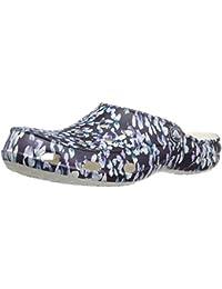 Crocs Freesail Graphic Clog W Blu/Flr, Zuecos para Mujer