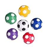 TOYMYTOY 12 Pcs 36mm Mini pallina calcio balilla - Sostituzioni di palle di biliardino, Gioco di calcio, Colori assortiti