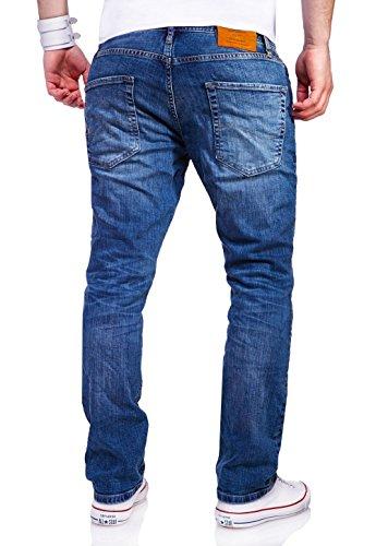 Jack & Jones Jeans Straight CLARK Hose Blau