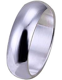 joyliveCY 2018la moda mujer elegante 925Chapado en plata anillo suave Fat redonda UK tamaño Q