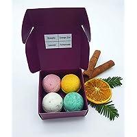 Badekugeln/Badebomben Winterzeit in der Geschenkbox, vegan, ohne Palmöl, ohne Plastik, von kleine Auszeit Manufaktur
