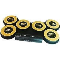 Baoffs Tambor electronico Digital Dampened, Electronic Drum Blow Drumming Games Silicone Electric Drum Drum Portable Plegable Adultos Niños para niños Principiantes