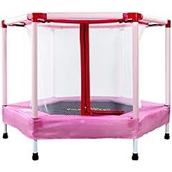 Le Printemps intérieur de la Maison du Trampoline pour Enfants ne Se Plie Pas avec Le Trampoline Protecteur en Filet (Couleur : C)