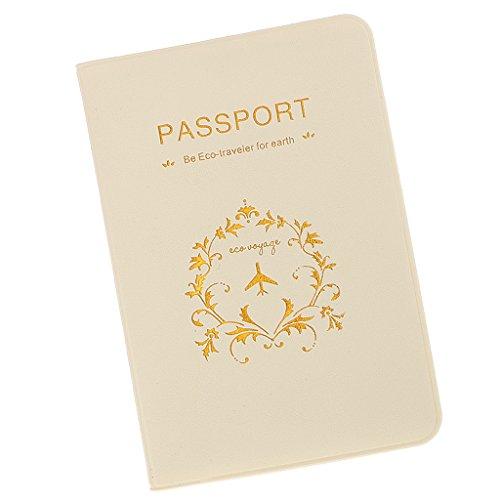 Accesorios de Viaje Funda de Pasaporte Tarjetas de Fidelización Sostenedor Organizador - Blanco