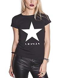 David Bowie Blackstar nouveau officiel Femme skinny fit Noir T Shirt