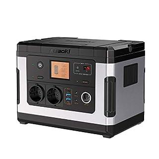 SUAOKI G500 Portable Power Station 500Wh Solargenerator Lithium-Netzteil mit Wechselrichter 300W, 12V DC, 12V Auto, USB/Typ-C-Schnellladeanschluss für den Notfall-Camping CPAP Outdoor