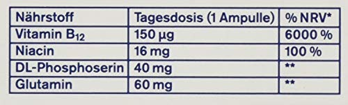 tetesept B12 Vita-Kick Trinkampullen - Ergänzungsmittel mit hochdosiertem Vitamin B12 & Eiweißbausteinen - Himbeergeschmack - 1er Pack mit 18 Trinkfläschchen [Nahrungsergänzungsmittel]