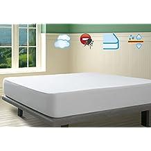 Savel, Protector de colchón Coralina 100% Algodón Impermeable y Transpirable, 150x190/200cm (para camas de 150)