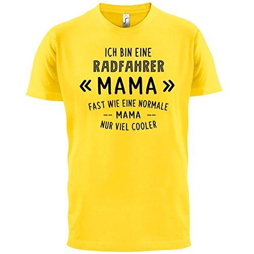 Ich bin eine Radfahrer Mama - Herren T-Shirt - 13 Farben Gelb