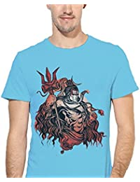 ECOSOUL Shiva Blolenaath Religion Half Sleeve Graphic Printed Boys Men Round Neck T Shirt Tees Shirts Gift Sale...