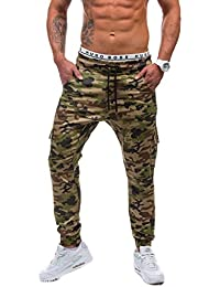 BOLF – Cargo Pantalons – Training pantalons – Baggy – Militaire – Camo – Motif – Homme [6F6]