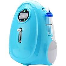 LIQICAI Portátil Concentrador de oxígeno Purificador de aire Continuo Oxígeno, 1-5L / min Ajustable, Casa/ Coche Utilizar con Inversor