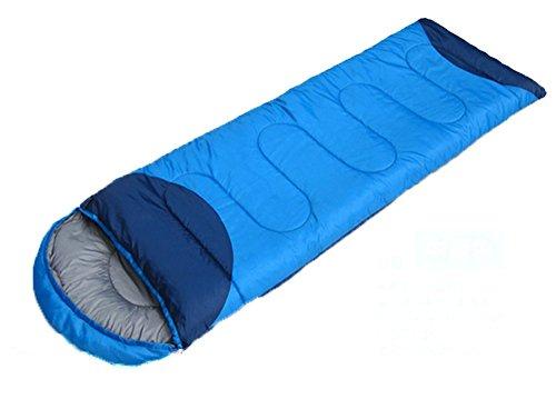 Honeystore Camping & Outdoor 190T Pongé Schlafsack-Deckenschlafsack (190+30)*75 CM Blau