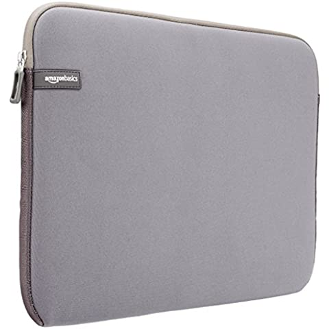 AmazonBasics - Funda para portátil con pantalla de 15 a 15,6 pulgadas, color gris
