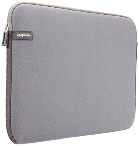AmazonBasics Laptop-Schutzhülle, für eine Bildschirmdiagonale von 15 - 15,6Zoll, Grau