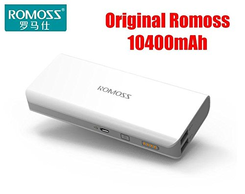 Romoss Sense 4 10400 mAh Power Bank - White  available at amazon for Rs.990