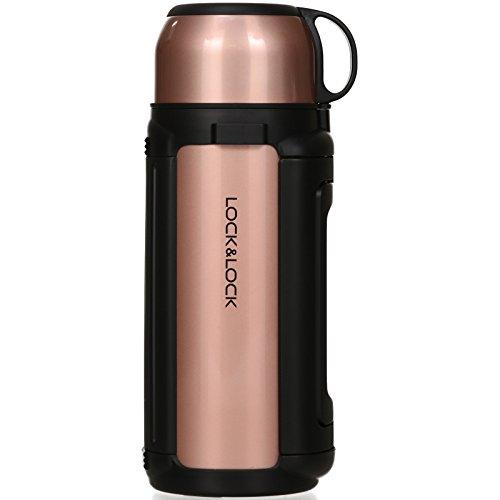 anne 1,5 Liter - NEW GIANT HOT TANK - Isolierflasche Edelstahl auslaufsicher - Thermo Warmhaltekanne für Kaffee, Tee & Kaltes - Gold Pink ()