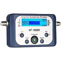 ZHITING-Medidor de señal satelital, buscador de satélite Digital Medidor de señal satelital Mini medidor de buscador de señal satelital Digital con Pantalla LCD Satfinder Digital con brújula