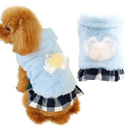 Tragen Kostüm Niedlichen Hunde - Maritown Hund weich flauschig warm Winter Kleid Prinzessin Stil niedlichen kleinen Haustier Hund Rock Kleidung Welpen Mantel Jacke Kleidung Kostüm Bekleidung für Hochzeit Geburtstag Weihnachtsfeier