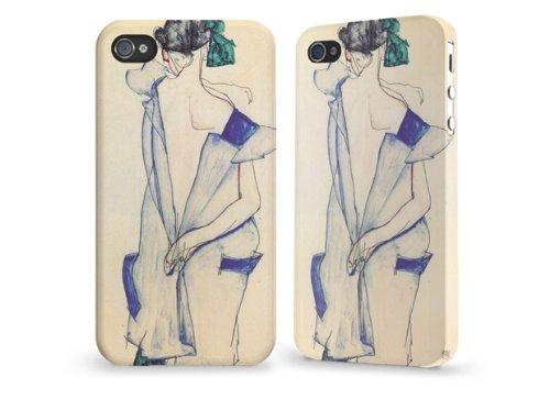 """Hülle / Case / Cover für iPhone 4 und 4s - """"Rückenansicht eines Mädchens"""" by Egon Schiele"""