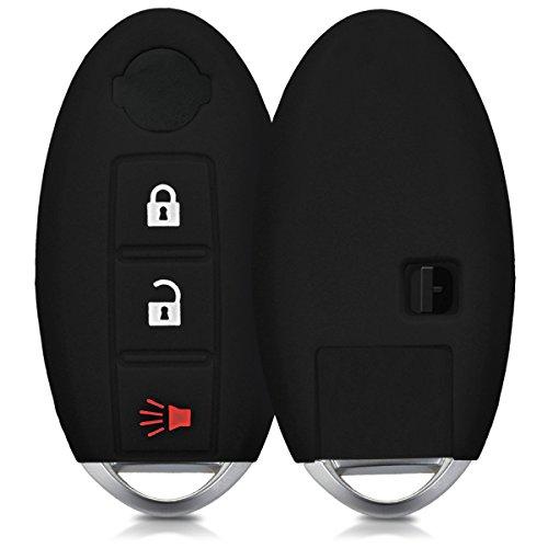 kwmobile Autoschlüssel Hülle für Nissan - Silikon Schutzhülle Schlüsselhülle Cover für Nissan 3-Tasten Autoschlüssel Schwarz (Juke Nissan 2012 Zubehör)