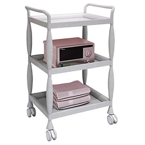 HT trolley Beauty Kinderwagen, Regal DREI-Schicht-Beauty-Salon Warenkorb Beauty-Salon Kinderwagen Nagel Tätowierung Werkzeugwagen (Farbe : A)