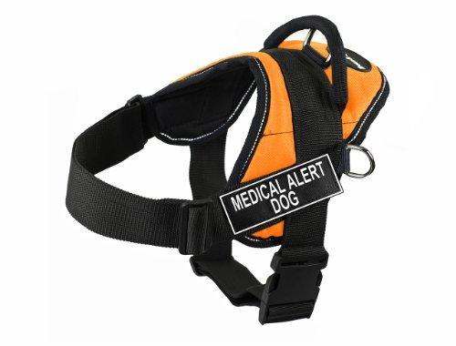 Dean & Tyler Fun Hundegeschirr Medical Alert Dog, mit reflektierenden Rändern, Größe XL, Orange (Harness Medical Dog Alert)