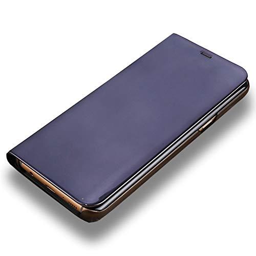 LAGUI Cover Geeignet für Xiaomi Mi 9, Clear View Flip Deckel mit Standfunktion. schwarz Flip Cover-deckel