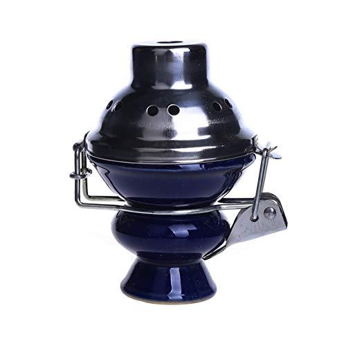 SSOLEREIT Pantalla cerámicas Cacerola de la cubierta del viento Shisha cubeta de carbón vegetal for...