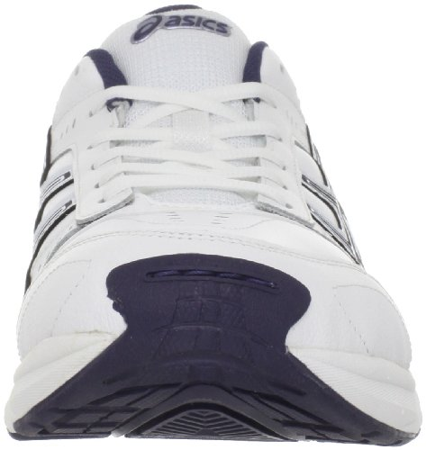 Asics Precision TR Cuir Baskets White-Navy-Silver