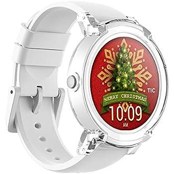 Ticwatch E Ice Smartwatch Bluetooth Montre Connectée avec écran OLED 1, 4 Pouces, Android Wear 2.0, Sportswatch Compatible avec Android et iOS, ...