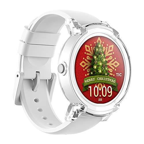 Ticwatch E Ice Smartwatch Bluetooth Montre Connectée avec écran OLED 1,4 Pouces, Android Wear 2.0, Sportswatch Compatible avec Android et iOS, Langue française Disponible Disponible