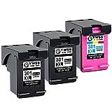 YWSS Remanufacturado Cartucho de Tinta para HP 301 XL HP 301 Alto Rendimiento Cartucho de Tinta (2...