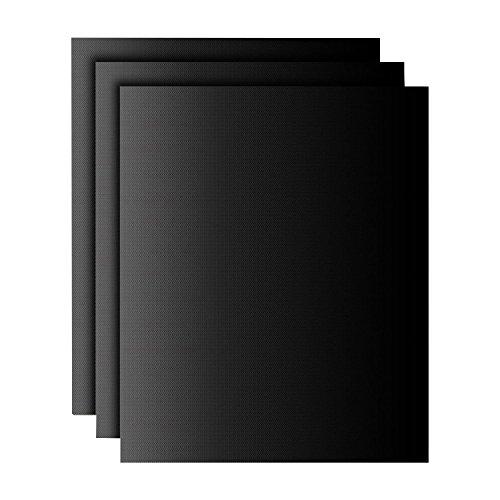 41tI2N0zK8L - Grillmatten (3er Set) zum Grillen und Backen | Coninx Grillfolie | Teflon Antihaftbeschichtung | 33x 40cm | wiederverwendbar Grill Zubehör | Backfolie Bachmatte | ideal für Holzkohle Grill