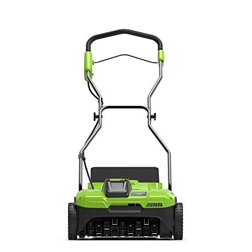 Greenworks 2504807g40dt3040V Escarificador sin batería y cargador, 40V, Green