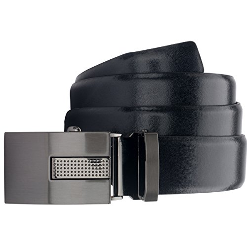 Lindenmann Mens Leather Belt/Mens belt, leather belt autolock, black