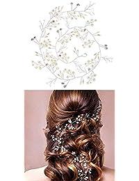 PICCOLI MONELLI Fascia sposa capelli in strass e perle accessori  acconciature capelli matrimonio damigella filo strass 5f2a6b7501cc