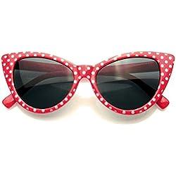 Polka Dot Mujeres Mod Super moda (Rojo)