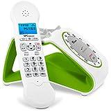 SPC Retro Glamour - Teléfono ( DECT Escritorio, Tone/Pulse, Menu, 50 entradas ), color verde
