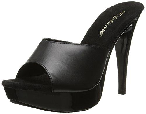 Fabulicious, Sandali donna Blk Leather/Blk