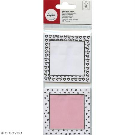 Rayher Hobby RAYHER selbstklebende Notizzettel, 76 x 76mm, 30 - Klammern Auf Auf Sie Schreiben Blatt