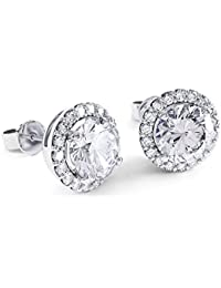 2ct Stardust Diamond Halo Stud Earrings OSRW2AT