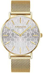 Coach WOMEN'S SILVER DIAL IONIC THIN GOLD PLATED 1 STEEL WATCH - 1450