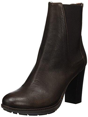 Fred de la Bretoniere Damen Fred Chelsea Boot 9cm Absatz Stiefelette Braun (Testa Di Moro)