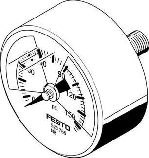 MA-50-145-R1/4-PSI-E-RG (526789) Manometer Entspricht Norm:EN 837-1 Nenngröße Manometer:50
